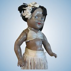 Thank you 'M'_Hawaiian Shirley Temple Composition Doll by Ideal Co._Circa 1937_18 inches tall_