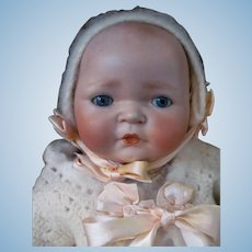 """Thank you 'T'_Baby Kestner Century Doll 18""""_Adorable Expressive Face_Big Round Rosey Cheeks_Circa 1925_"""