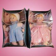2 MIB Madame Alexander Baby Dolls, Little Brother, Little Sister_Circa 1977_