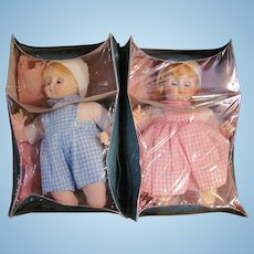 2 MIB Madame Alexander Baby Dolls, Little Brother, Little Sister_Circa 1977_