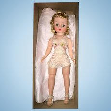 """Thank you 'J'_Vintage Cissette Mint In Box 1950's Blond Beauty in Chemise 9"""" Madame Alexander Doll_"""