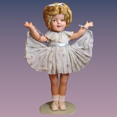 """Thank you 'K'_22"""" Shirley Temple 1930's Composition Doll_"""