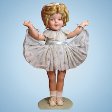 "Thank you 'K'_22"" Shirley Temple 1930's Composition Doll_"