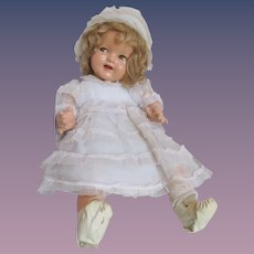 """Layaway for 'N'_'BABY SHIRLEY TEMPLE'  Darling Composition Doll 18""""_Circa 1935 'Flirty Eyes'"""