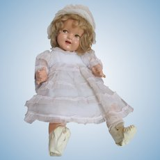 "Layaway for 'N'_'BABY SHIRLEY TEMPLE'  Darling Composition Doll 18""_Circa 1935 'Flirty Eyes'"