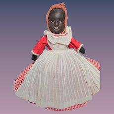 Thank you 'J'_Black Americana BRUCKNER Topsy Turvy Cloth Doll_Original_Circa 1907_