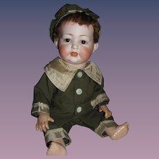 "Thank you 'L'_Kley & Hahn 167 Character Doll 15"" w/Lamb Skin Wig_"