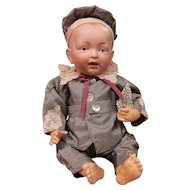 Kestner Character Baby with Solid Dome Head, Painted BROWN Eyes_ Excellent Condition_