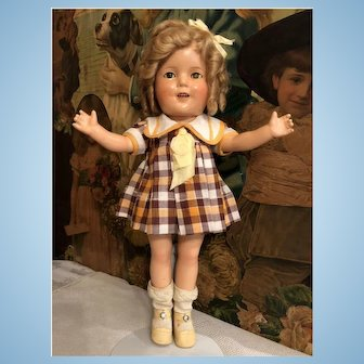 """Shirley Temple 1930's Ideal 13"""" Doll all original"""