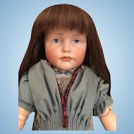 "19"" Pouty GRETCHEN  Kammer & Reinhardt Character Doll 'K&R 114'Germany_"
