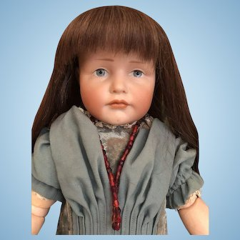 "19"" Pouty GRETCHEN  Kammer & Reinhardt Character Doll 'K&R 114'Germany_"