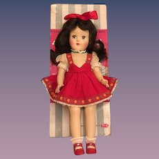 Thank you 'P'_Pristine 1949 P-90 Toni Ideal Doll with Long Raven Black Hair_
