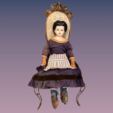 Thank you 'M'_Antique Greiner Papier Mache Doll needs TLC  _Circa 1872