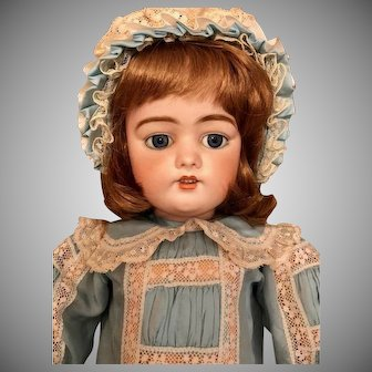 "25"" Simon & Halbig DEP 1079 12 Germany Antique doll_ Sweet Childlike Face"