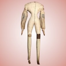 Millner's Model Wood Doll Body Fashion Size_18th c.