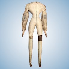 Thank you 'E'_Millner's Model Wood Doll Body Fashion Size_18th c.