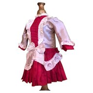 Lovely one piece German doll dress for 17in antique doll