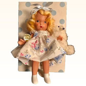 Pristine Pudgy Goldylocks and Baby Bear, Nancy Ann Story Book Doll complete everything inside Tag, Box no. 128