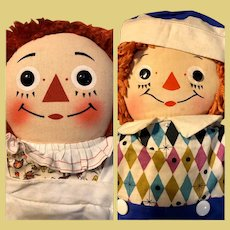 """Raggedy Ann and Andy Johnny Gruelle's Georgene 19"""" Dolls 30's and 50's"""