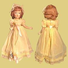 Vintage Original Bridesmaid Doll in yellow