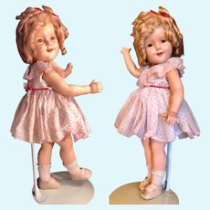 18 inches Original Shirley Temple Composition doll circa 1930's nice condition...