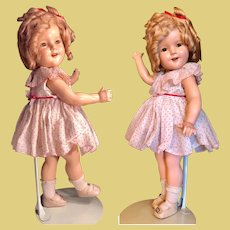 Original Shirley Temple Composition doll circa 1930's with no crazing