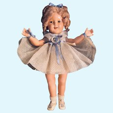 """18"""" Shirley Temple Composition Doll by Ideal c.1930's in Box"""