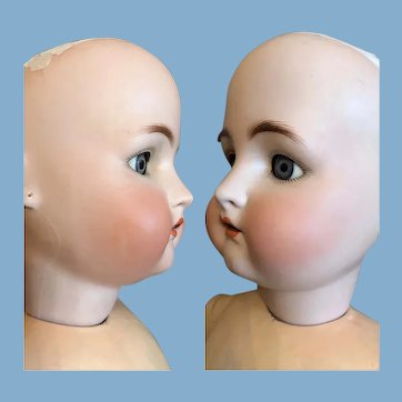 Chubby face K * R Simon & Halbig Antique German Bisque 26in naked doll