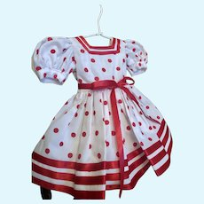 """Lovely custom made Shirley Temple Doll Dress for 20"""" doll_ FREE Shipping"""