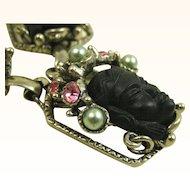 Vintage Selro Rare Book Piece Blackamoor Princess Necklace ~ 1950s