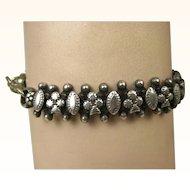 French Antique Ornate 900 Silver Bracelet ~ c1900