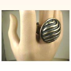 Rare Uni David-Andersen Sterling Silver Modernist Ring and Earrings ~ Marianne Berg ~ 1960s