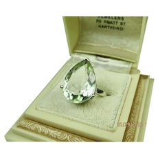 Fine Vintage Green Amethyst Sterling Silver Ring
