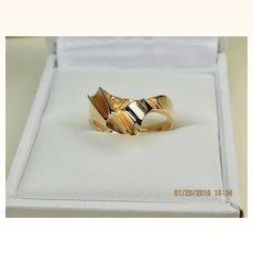 Superb Bjorn Weckstrom Lapponia 14k Gold and 950 Platinum Vintage Wedding Ring Finland