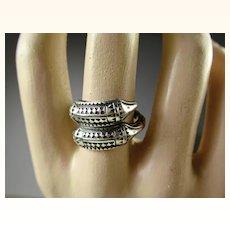 Rare Vintage David-Andersen Norway Sterling Viking Saga Ring ~ 1960s