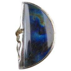 Lapponia Zoltan Popovits Finland Sterling Spectrolite Gemstone Vintage Ring ~ 1991