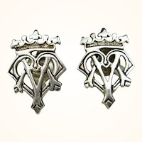 Vintage Scotland Ortak Sterling Luckenbooth Earrings ~ Malcolm Gray