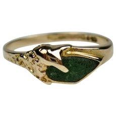 Fine Bjorn Weckstrom Lapponia 14k Gold and Zoisite Vintage Ring ~ Finland