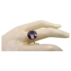 Fine Vintage Synthetic Alexandrite Gold Ring ~ c1940s