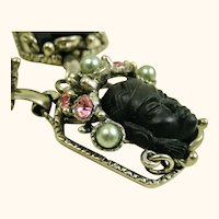 Selro Vintage Rare Book Piece Asian Princess Necklace ~ 1950s