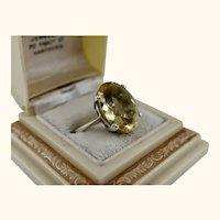 Fine Vintage Citrine Sterling Silver Ring
