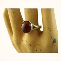 N E From Danish Modernist Sterling Amber Ring Niels Erik From ~ c1960s