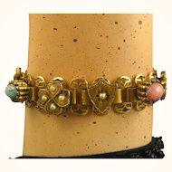 Antique French Napoleon III, Ornate Pomponne Bracelet ~ c1860