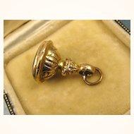 Antique Georgian / Victorian English Gold Agate Seal Fob ~ c1840