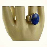 N E From Denmark Modernist Lapis Sterling Ring Niels Erik From ~ c1960s