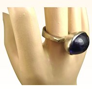 Vintage Danish Modernist Amethyst and Silver Ring ~ 1960s