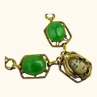 Vintage Superb Unsigned Selro Selini Asian Princess Lucite Necklace ~ 1950s