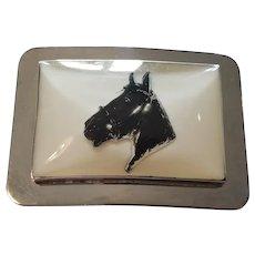 Cool Retro Lucite Horse Head Belt Buckle