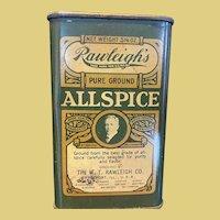 Rawleigh's Allspice Spice Tin