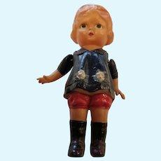 """1920's Celluloid 6"""" Girl Doll Japan Novelty"""